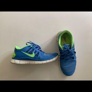 Nike Free 5.0 (Women's) Blue/Green size 9